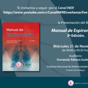 21 de noviembre: presentamos la tercera edición del «Manual de Espirometría»