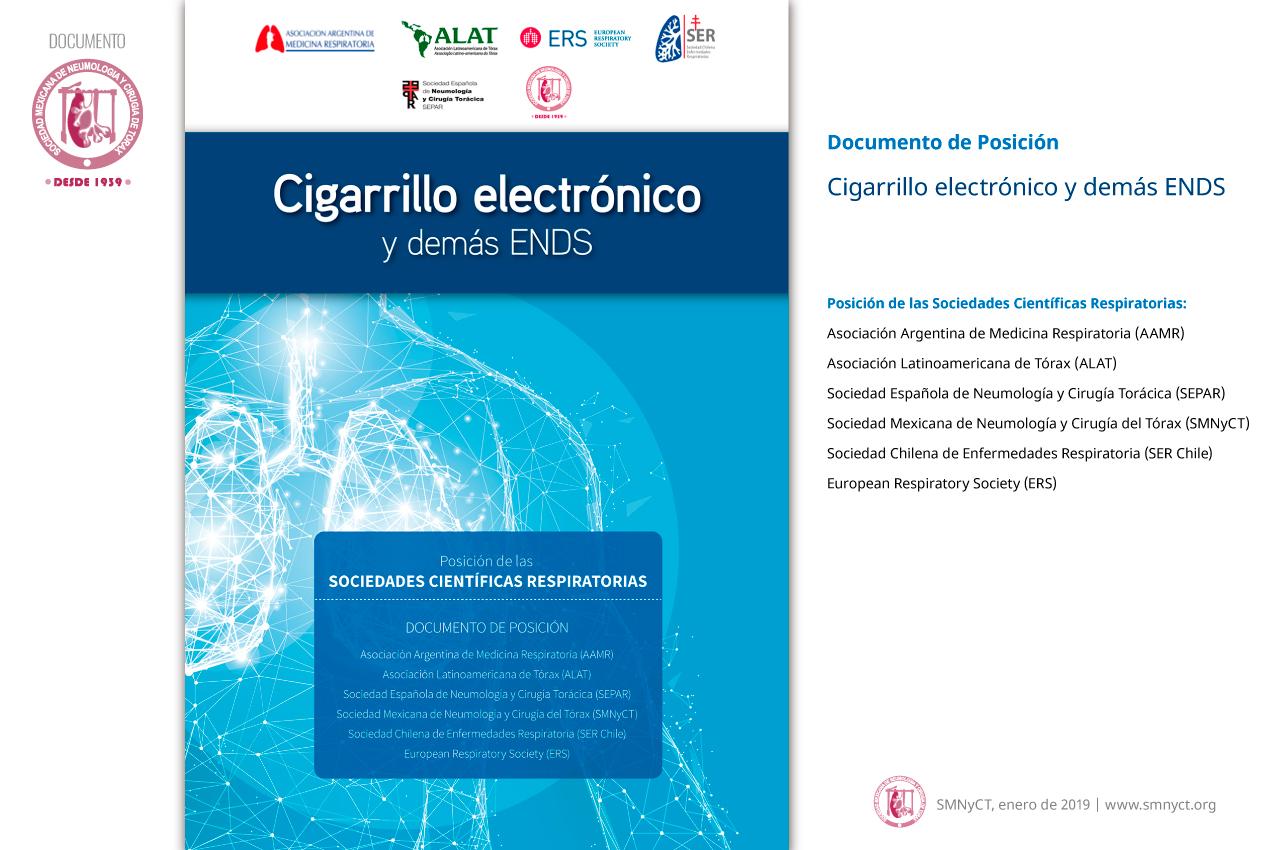 Cigarrillo electrónico y demás ENDS. Documento de Posición: AAMR, ALAT, ERS, SEPAR, SERChile, SMNyCT