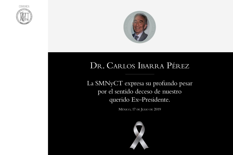 Nuestras condolencias por el deceso del Dr. Carlos Ibarra Pérez