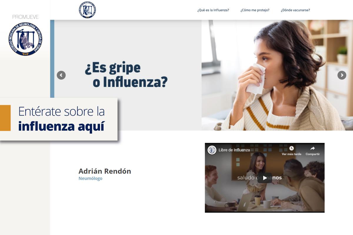 Nuevo sitio web para informarte de la influenza