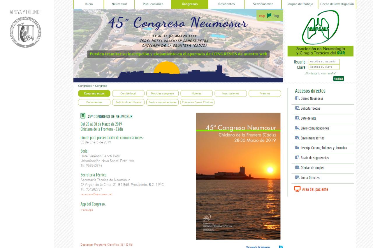 45º Congreso NEUMOSUR