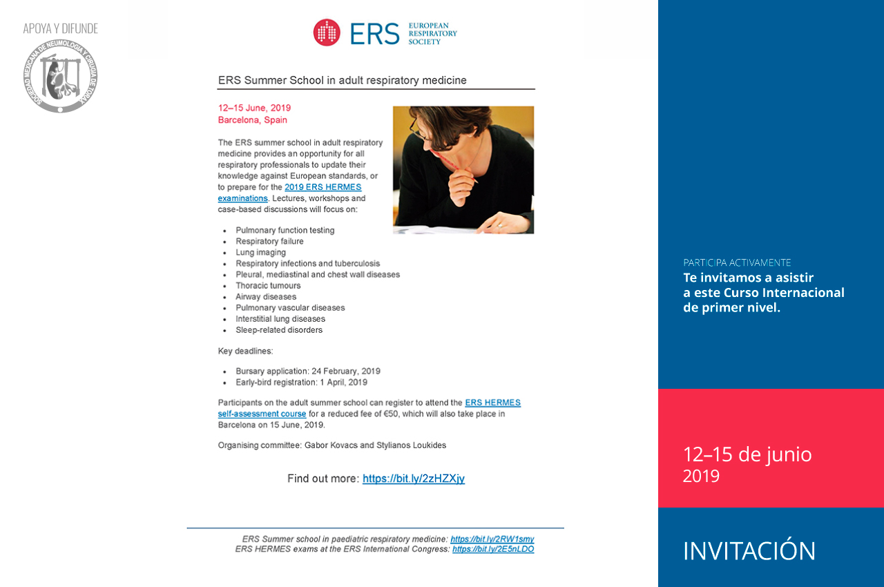 ERS Summer School in adult respiratory medicine