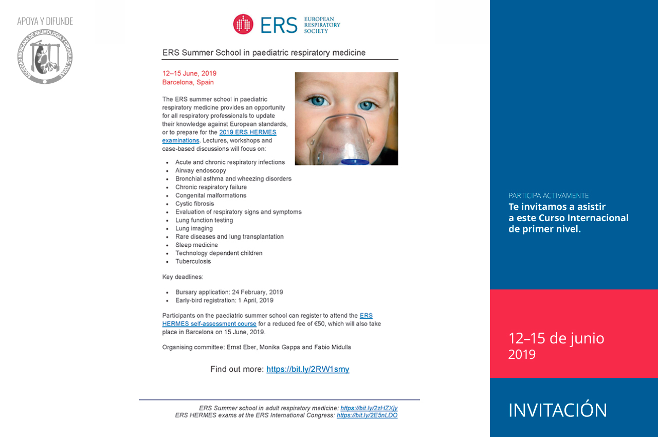 ERS Summer School in paediatric respiratory medicine