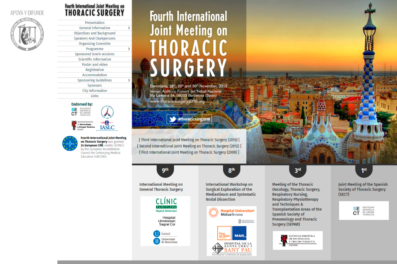 Fourth International Joint Meeting on Thoracic Surgery
